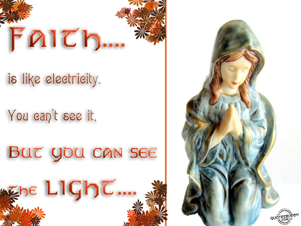 Faith Is Like An Electricity christian wallpaper free download. Use on PC, Mac, Android, iPhone or any device you like.
