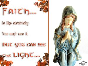 Faith Is Like An Electricity Wallpaper