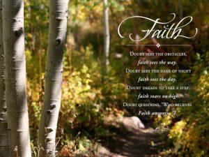 Christian Quote: Faith Writings Wallpaper