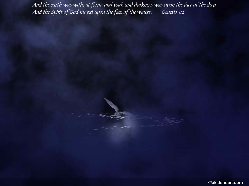 Genesis 1:2 – Creation christian wallpaper free download. Use on PC, Mac, Android, iPhone or any device you like.