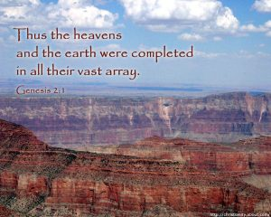 Genesis 2:1 – Heavens And Earth Wallpaper