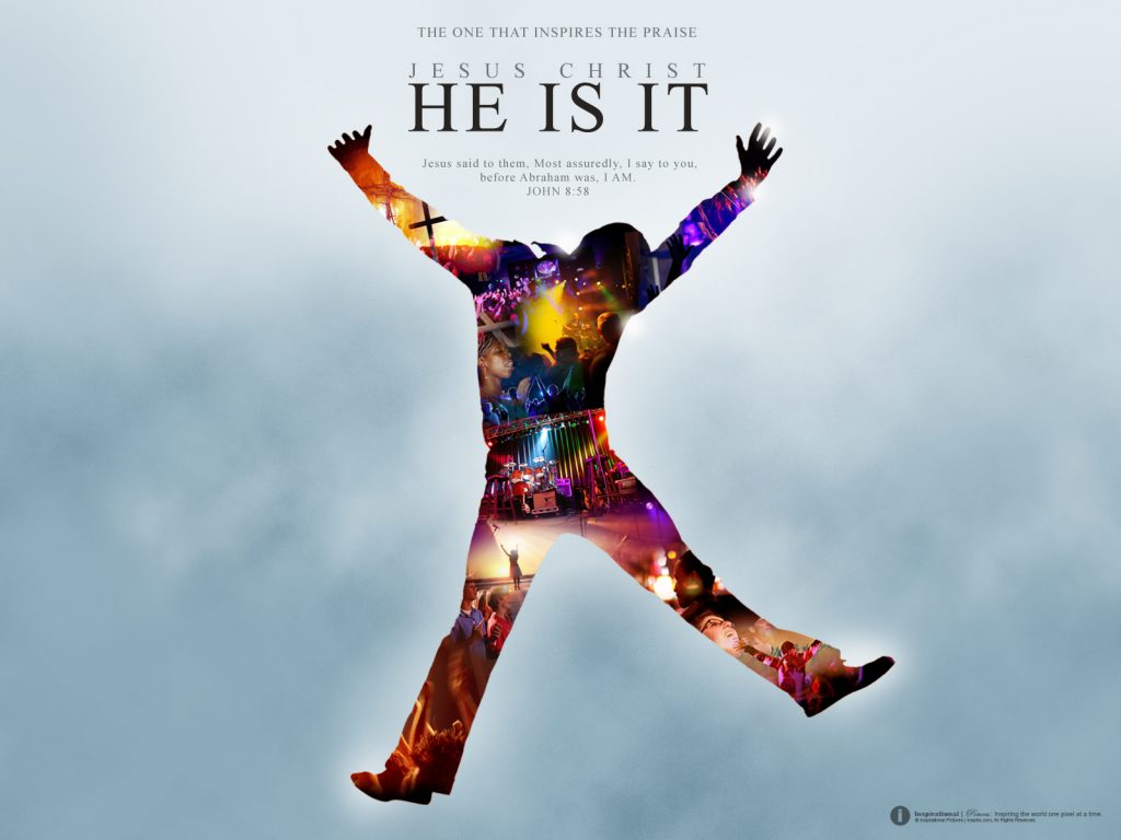 Christian Graphic: He is it! christian wallpaper free download. Use on PC, Mac, Android, iPhone or any device you like.