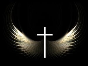 Christian Graphic: Cross and Wings Wallpaper