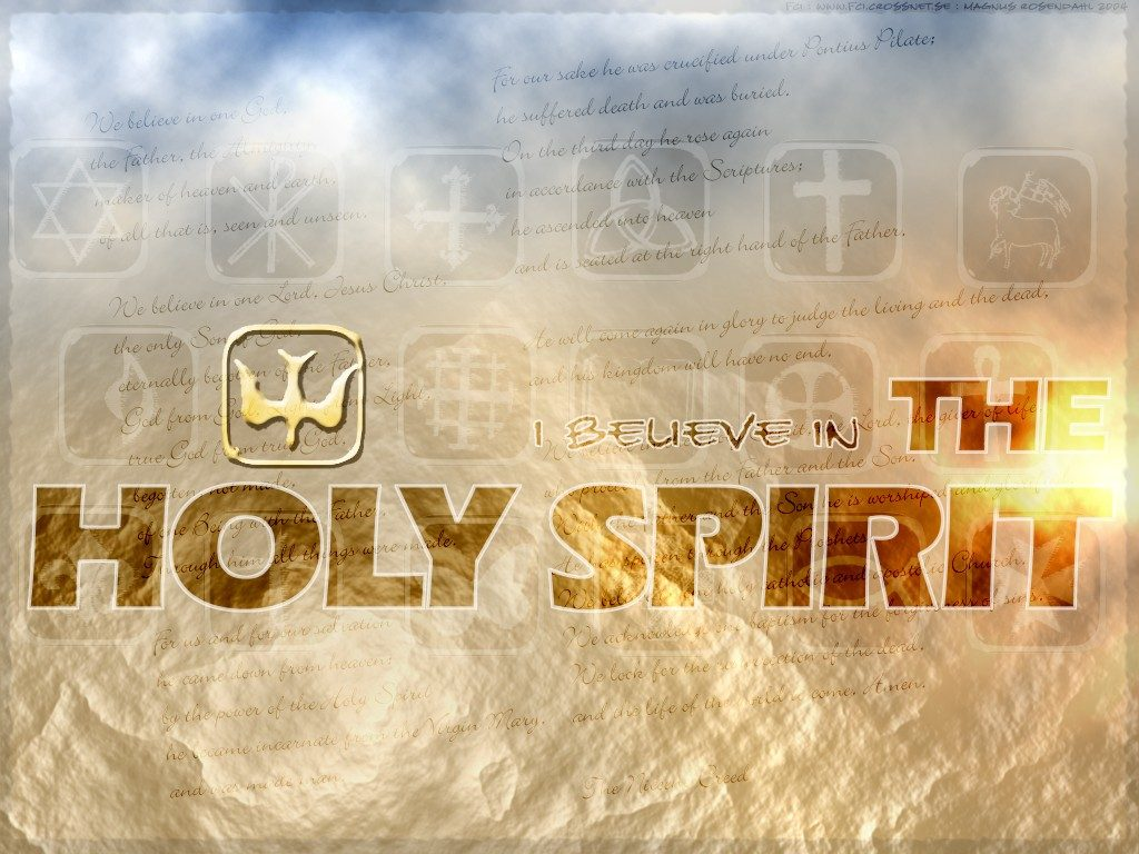 Christian Graphic: Holy Spirit christian wallpaper free download. Use on PC, Mac, Android, iPhone or any device you like.