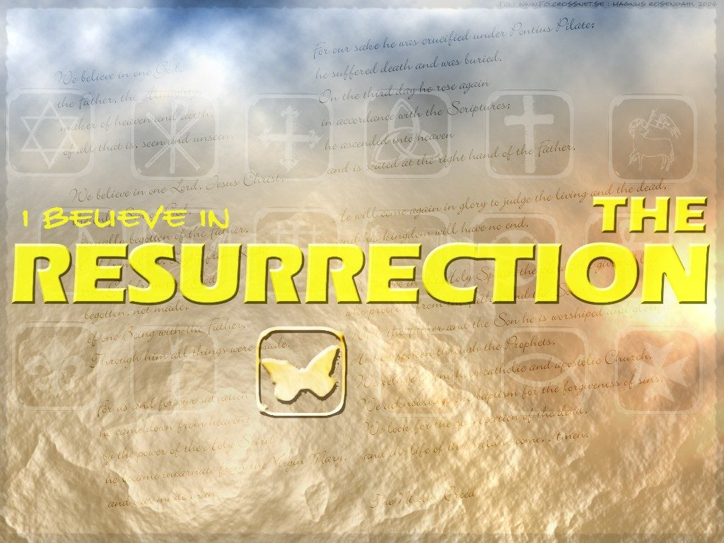 Christian Graphic: Resurrection christian wallpaper free download. Use on PC, Mac, Android, iPhone or any device you like.
