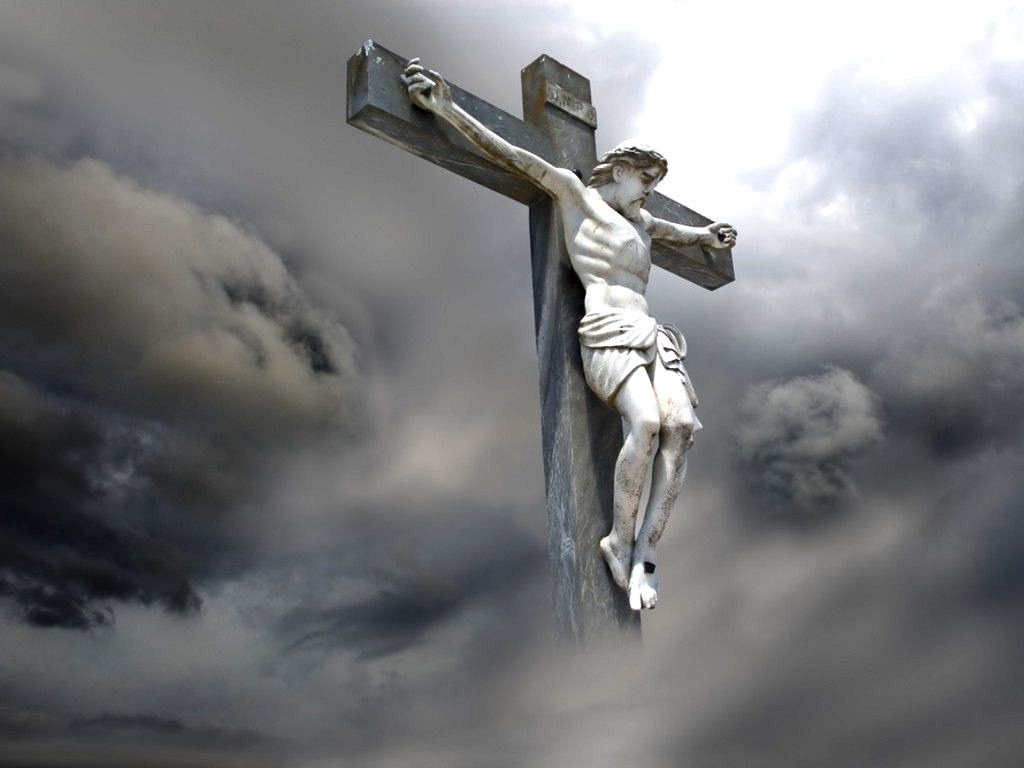 Christian Graphic: Jesus On The Cross christian wallpaper free download. Use on PC, Mac, Android, iPhone or any device you like.
