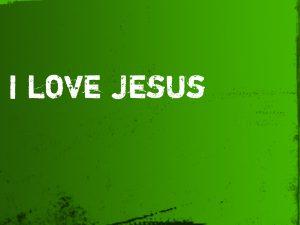 I Love Jesus Wallpaper