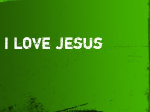 Christian Graphic: I LOVE JESUS Wallpaper