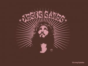 Christian Graphic: Jesus Saves Wallpaper