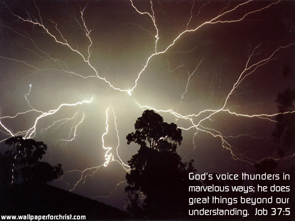 Job 37:5 – God's Voice christian wallpaper free download. Use on PC, Mac, Android, iPhone or any device you like.