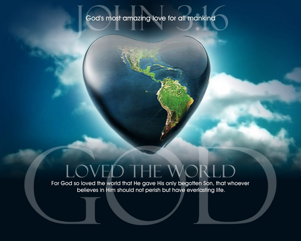 John 3:16 – God is Love christian wallpaper free download. Use on PC, Mac, Android, iPhone or any device you like.