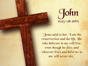 John 11:25-26 – The Resurrection and the Life Wallpaper