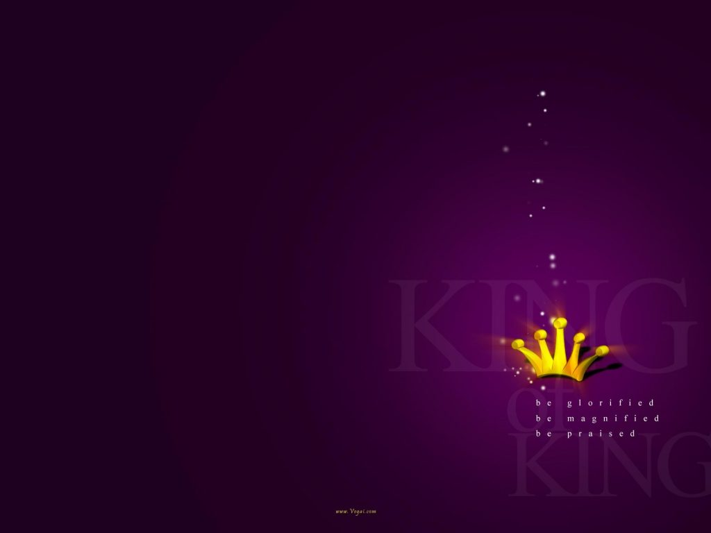 Christian Graphic: King of Kings Violet Background christian wallpaper free download. Use on PC, Mac, Android, iPhone or any device you like.