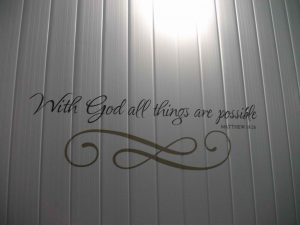 Matthew 19:26 – With God All Things Are Possible Wallpaper