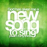 Christian Graphic: New Song Wallpaper Christian Background