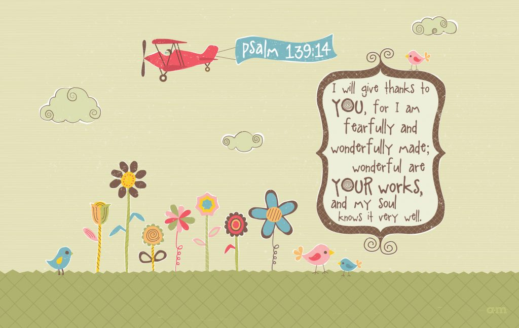 Psalm 139:14 – Wonderful Works christian wallpaper free download. Use on PC, Mac, Android, iPhone or any device you like.