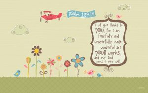 Psalm 139:14 – Wonderful Works Wallpaper