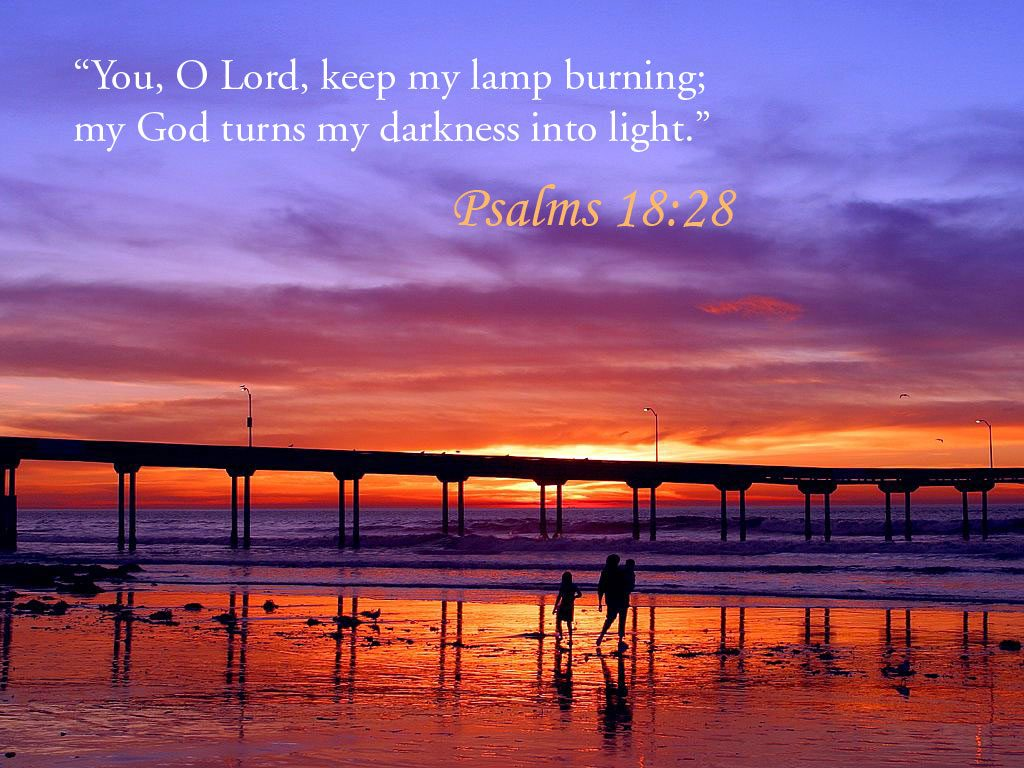 Psalms 18:28 – Light of the Darkness christian wallpaper free download. Use on PC, Mac, Android, iPhone or any device you like.