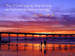 Psalms 18:28 – Light of the Darkness Papel de Parede Imagem