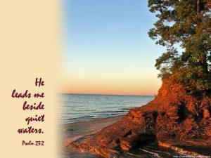 Psalm 23:2 – Still Waters Wallpaper