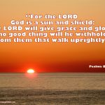 Psalms 84:11 – Sun and Shield Wallpaper Christian Background