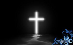 White Cross Glowing Wallpaper