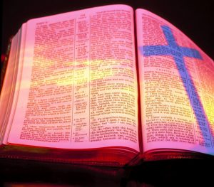 Christian Photography: Bible With Cross Shadow Wallpaper