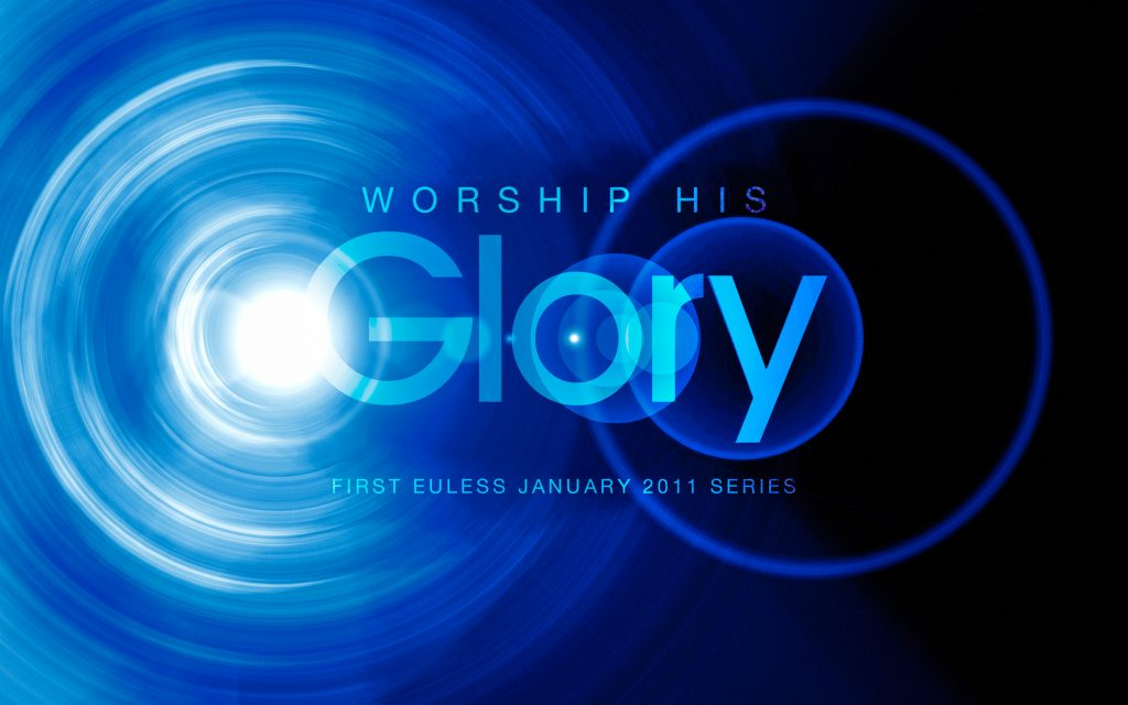 Christian Graphic: Worship His Glory christian wallpaper free download. Use on PC, Mac, Android, iPhone or any device you like.