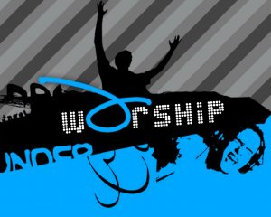 Christian Graphic: Worship Wallpaper