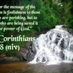 1 Corinthians 1:18 – Christ Crucified Is God's Power and Wisdom Wallpaper Christian Background