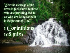 1 Corinthians 1:18 – Christ Crucified Is God's Power and Wisdom Wallpaper