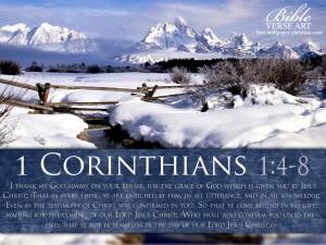 1 Corinthians 1:4-8 – Wallpaper