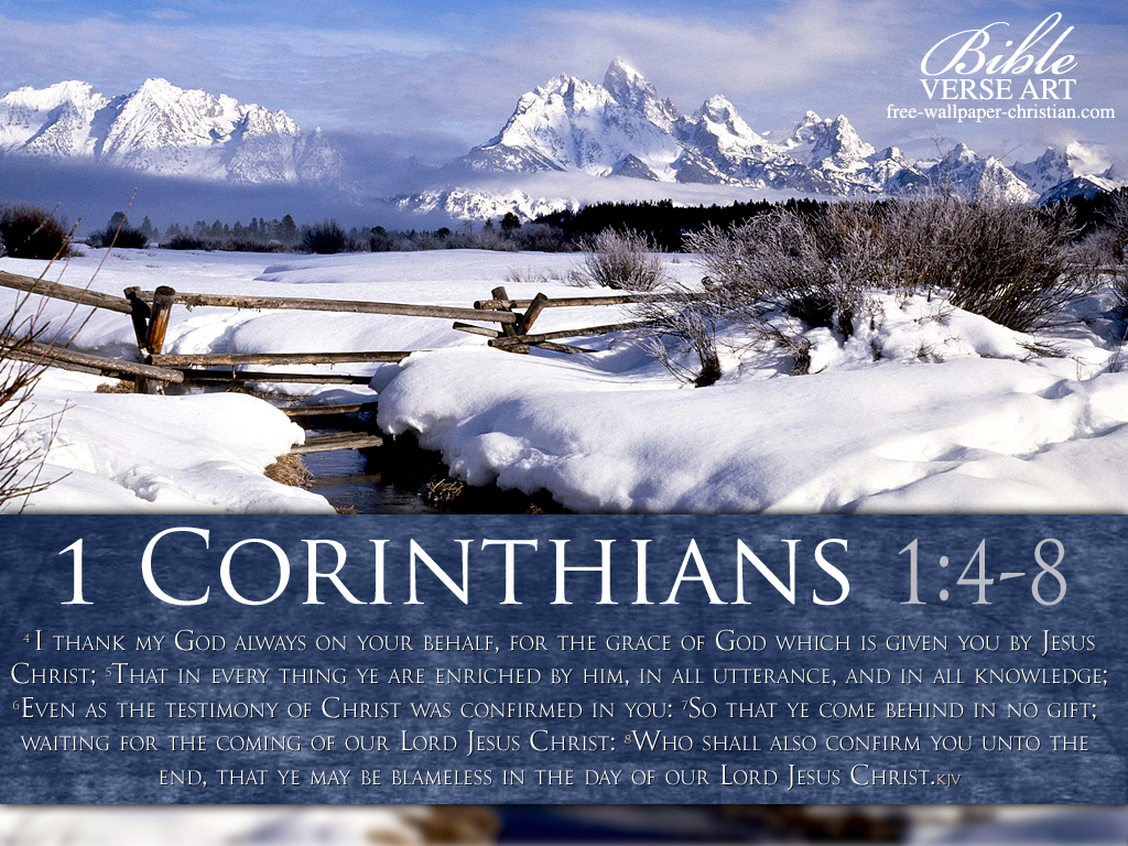 Winter Wallpaper With Bible Verses