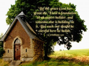 1 Corinthians 3:10 – Wise Builder Wallpaper