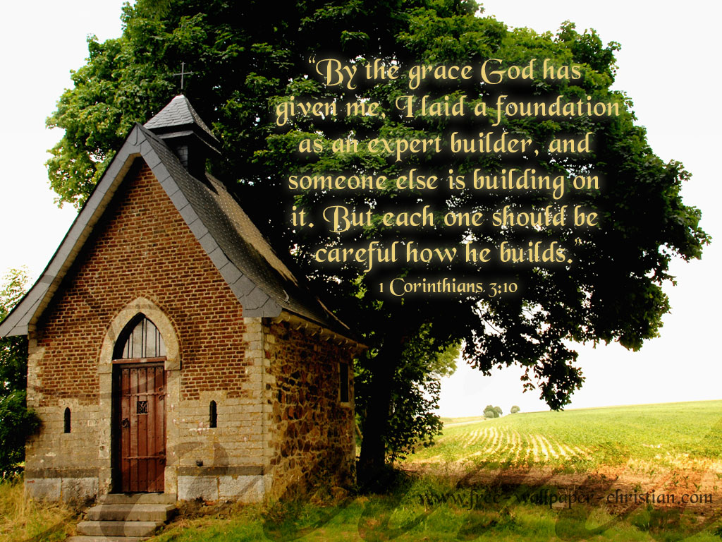 1 Corinthians 3:10 – Wise Builder christian wallpaper free download. Use on PC, Mac, Android, iPhone or any device you like.