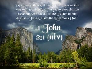1 John 2:1 – Do Not Sin Wallpaper