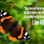 1 John 4:10 – God Loved Us Wallpaper Christian Background