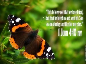 1 John 4:10 – God Loved Us Wallpaper