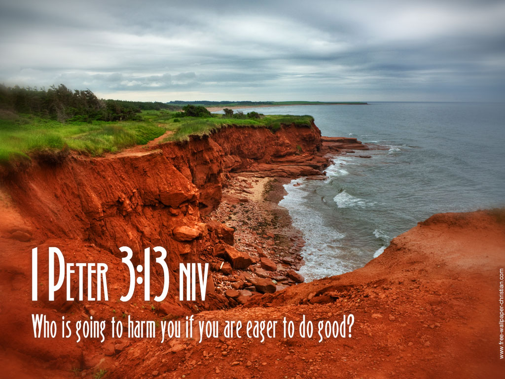 1 Peter 3:13 – No Harm christian wallpaper free download. Use on PC, Mac, Android, iPhone or any device you like.