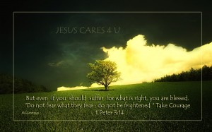 1 Peter 3:14 – Do Not Be Frightened Wallpaper
