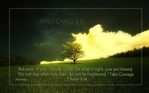 1 Peter 3:14 – Do Not Be Frightened Wallpaper