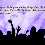 2 Peter 3:18 – Grace and Knowledge Wallpaper Christian Background