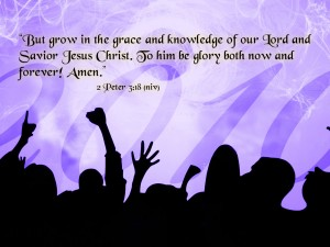 2 Peter 3:18 – Grace and Knowledge Wallpaper