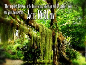 Acts 16:31 – Believe In The Lord Jesus Wallpaper