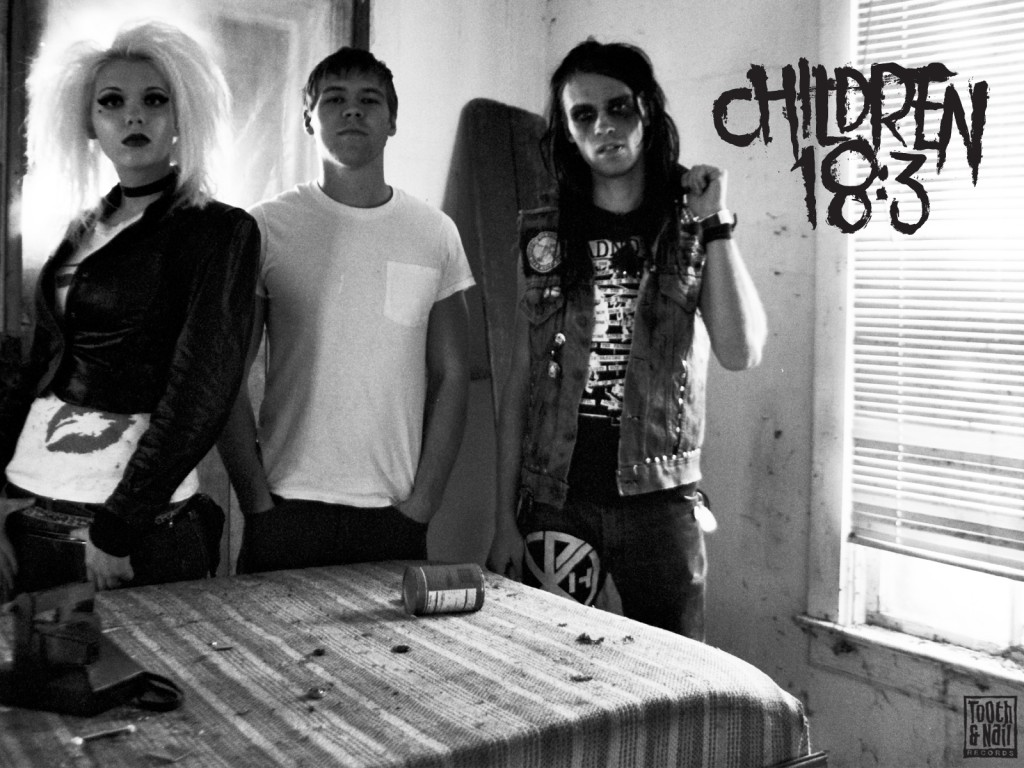 Christian Band: Children 18:3 Black And White Album Cover christian wallpaper free download. Use on PC, Mac, Android, iPhone or any device you like.