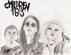 Christian Band: Children 18:3 Sketch Wallpaper