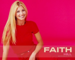 Christian Singer: Faith Hill On Red Wallpaper