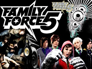 Christian Band: Family Force 5 Collage Papel de Parede Imagem