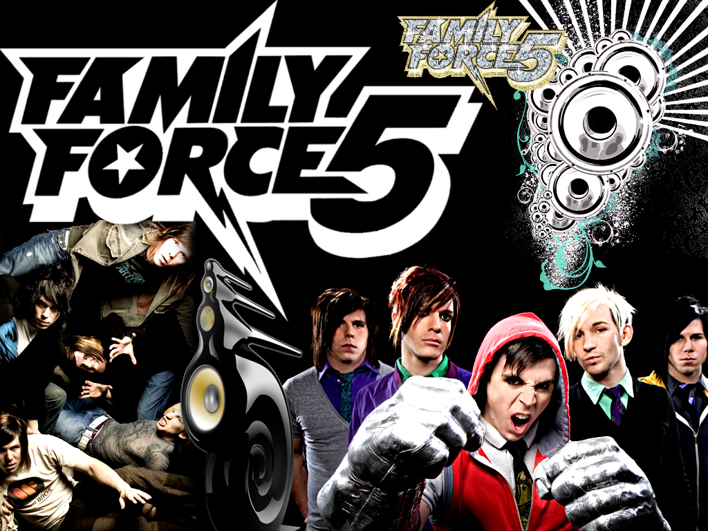 Christian Band: Family Force 5 Collage christian wallpaper free download. Use on PC, Mac, Android, iPhone or any device you like.