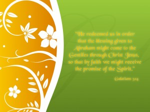 Galatians 3:14 – Promise of the Holy Spirit Wallpaper